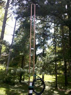 2 Meter Slim Jim Antenna | KB9VBR J-Pole Antennas Police Radio, Dipole Antenna, Ham Radio Antenna, Slim, Radios, Projects