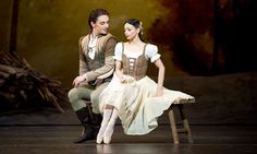 Sergei Polunin and Roberta Marquez as Albrecht and Giselle in the Royal Ballet's production at the Royal Opera House.  Photograph: Tristram ...