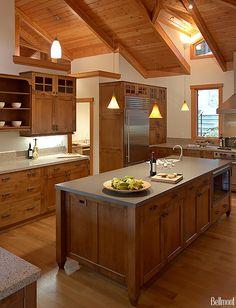 Mesa Alder Bourbon - 1900 Series Kitchens - Bellmont Cabinet Co.