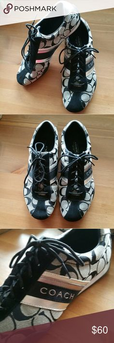 Coach Tennis Shoes Beautiful Coach Tennis shoes.  Worn once so these are in EXCELLENT condition! Coach Shoes Sneakers
