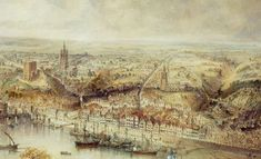 newcastle bridge historic crossing painting - Google Search