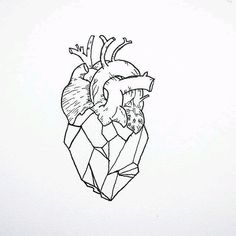 Drawing Doodles Sketches A geometric heart. - The geometric tattoo is one of the tattoos that has grown in popularity and retains it's staying power. Its one of the cool, incredible tattoos that many tattoo lovers and artist among other people… Geometric Pattern Tattoo, Geometric Heart Tattoo, Geometric Drawing, Geometric Tattoo Travel, Geometric Compass, Tattoo Drawings, Art Drawings, Drawings Of Hearts, Tattoo Linework