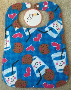 Milk and Cookies Baby Bib by CraftyToucan