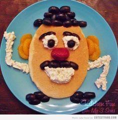 氏は、頭をパンケーキ! |かわいいパンケーキ| CutestFood.com