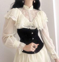 can't be tamed.yet, Dwelling at nights, as a well dressed ghost. Cute Fashion, Look Fashion, Vintage Fashion, Fashion Outfits, Fashion Tips, Fashion Design, 2000s Fashion, Daily Fashion, Korean Fashion