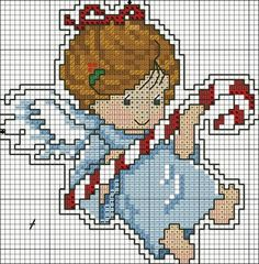 Christmas angel cross-stitch