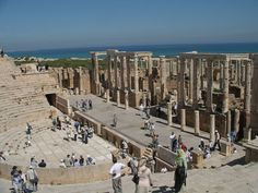Roman ruins of Leptis Magna - located in Khoms, Libya.