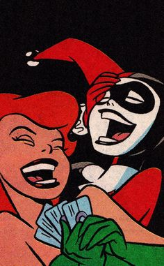 Harley Quinn and Poison Ivy Cartoon Wallpaper, Trippy Wallpaper, Retro Wallpaper, Iphone Wallpaper, Arte Pop, Vintage Cartoons, Vintage Comics, Japon Illustration, Cartoon Art