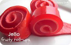 Jello Fruity Roll-ups Snack. So fun to make with kids! #kids #recipe #snack