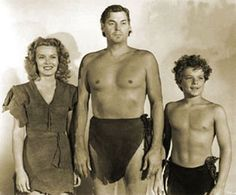 "L to R: Jane,Tarzan,Boy. (THE Tarzan ~ Johnny Weissmuller). I loved Tarzan. I also loved his TV series, ""Jungle Jim"". Real Tarzan, Tarzan Movie, I Movie, Movie Stars, Movie Scene, Tarzan Johnny Weissmuller, Tv Sendungen, The Lone Ranger, Entertainment"
