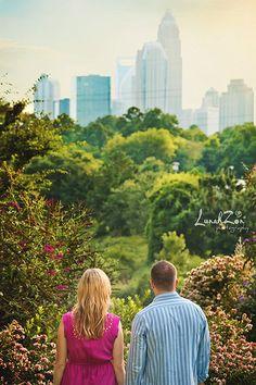 Contemplation -Charlotte NC- #skyline #engagement #photography