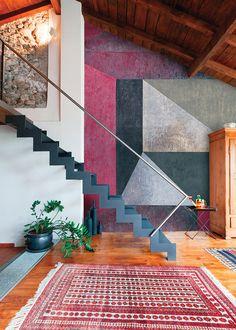 KAGADATO selection. The best in the world. Loft interiors design. **************************************Geometric wall mural