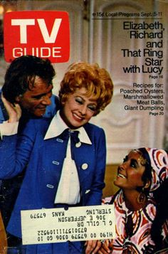 TV GUIDE SEPT 1970 ELIZABETH TAYLOR, RICHARD BURTON AND LUCILLE BALL ...