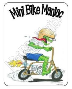 """Foremost Golden Pinto J C Penney's Mini Bike Decals 3"""" set of two"""