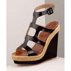 $148  Patent Ankle-Wrap Espadrille