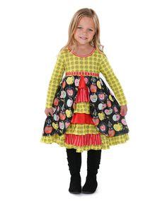 Jelly The Pug Candy Apple Hannah Knit Dress - Girls Size: 2T, 6, 10 #JellyThePug #ChristmasDressyEverydayHolidayParty