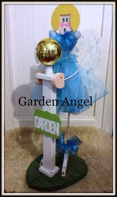 Outdoor Garden Angel Garden Decoration by Ittakes2krafters on Etsy