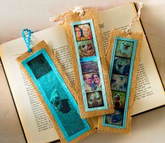 How to make a burlap bookmark using your Instagrams and Mod Podge photo transfer medium!