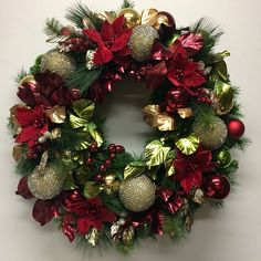 Large Christmas wreath by Miss Haberdash Christmas.