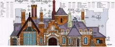The first 2015 model will be Disneyland's Toad Hall.the dark ride building for Mr. This colored elevation was created using the 1983 blueprints of Fantasyland and contains almost 30 Photoshop layers separating colors. Disneyland Main Street, Disneyland Map, Disney Concept Art, Disney Art, Disney Theme, Disney Magic, Pc Minecraft, Mr Toad, Walt Disney Imagineering