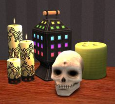 """""""Remakes of the TS1:Unleashed """"Shallow Tallow Display"""" Candles """" """"After months (!) of on-and-off work, I am finally done with these c: now the only thing missing is a miss Lucille sim to sell..."""