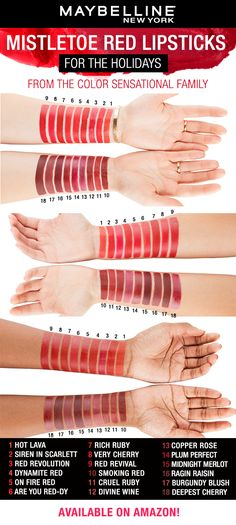 Best Lipstick Lip Color by Maybelline. Long-lasting matte lipstick, creamy nude and bold lip colors in shades for all skin tones for custom lip makeup looks. Lip Gloss Colors, Lipstick Colors, Lip Colors, Mauve Lipstick, Lipstick Shades, Liquid Lipstick, Maybelline Creamy Matte Lipstick, Maybelline Makeup, Lipstick Dupes