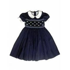 DESIGNER SMOCKED GIRLD DRESSES | ... Hand Smocked Dress - Girls' Designer Dress from Designer Clothing UK