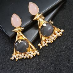 Contemporary earrings... All your jewellery needs end here www.instagram.com/yoshacreationz