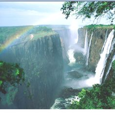 Victoria Falls, in zimbabwe, like a great big hole in the world!