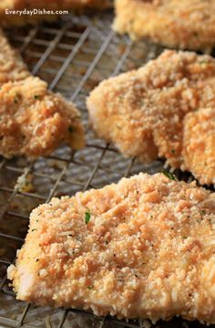 Asiago-crusted chicken cutlets recipe video