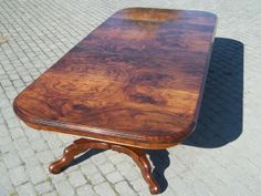 C J Antiques Antique burl walnut extending dining table max long Antique Dining Tables, Oak Dining Table, Extendable Dining Table, Dining Room, Walnut Table, Antiques For Sale, Traditional Looks, Antique Furniture, House