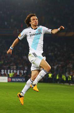 ~ David Luiz of Chelsea FC celebrating ~
