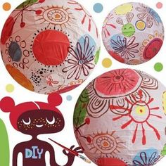 Decorated paper lantern. Gloucestershire Resource Centre http://www.grcltd.org/home-resource-centre/