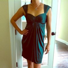 Perfect for a date nite! BCBG dress Worn once! Very sexy and perfect for a night out! BCBGMaxAzria Dresses