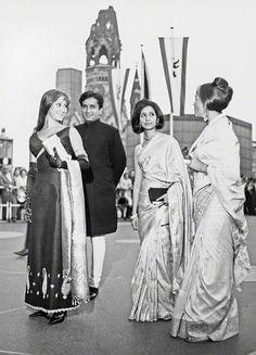 Felicity Kendal, Shashi Kapoor, Madhur Jaffrey, Jennifer Kapoor at Berlinale (Berlin Film Festival) 1965.