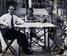 Federico García Lorca con María Teresa León y Rafael Alberti.
