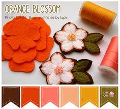 Orange Blossom Color Palette - Inspire Sweetness  http://www.inspiresweetness.blogspot.com/2013/12/orange-blossom-color-palette.html