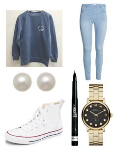 """Untitled #50"" by masha-anastasia on Polyvore featuring Converse, Marc by Marc Jacobs, Rimmel, Honora, women's clothing, women, female, woman, misses and juniors"