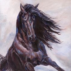 Original horse Oil painting On canvas ' Equine by FerraroFineArt
