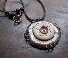 Bone Shield Amulet Necklace by stregata