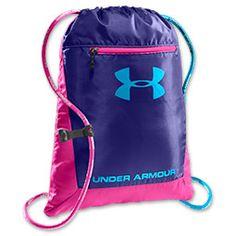 Under Armour Hustle Sackpack | FinishLine.com | Pink/Purple