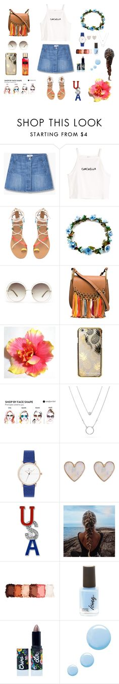 """coachella"" by liligum ❤ liked on Polyvore featuring MANGO, H&M, Chloé, Skinnydip, New Look, Kim Rogers, NYX, Lime Crime and Topshop"