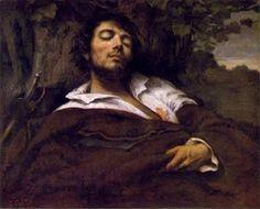O homem ferido, pintura de Gustave Courbet.
