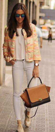 Soft And Neon Outfit Idea by BCN Fashionista