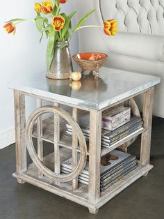 Galia Side Table by Statements by J at Gilt