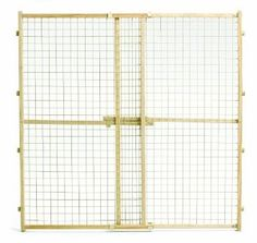 """Wood Gate with Wire Mesh 29"""" - 50"""" x 44"""""""