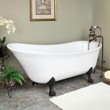 Modern High Back Claw Foot Bathtub