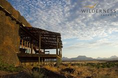 Doro Nawas Camp - The main area is made up of indoor and outdoor dining areas, pool area, bar and local curio area. Namibia, Safari Adventure, Luxury Life, Tent Camping, Outdoor Dining, Wilderness, Africa, Landscape, House Styles