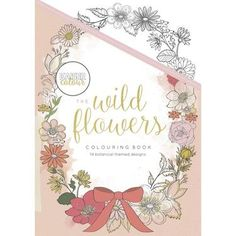 Kaisercraft Wild Flowers Colouring Book White A5