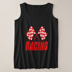 Two checkered racing flags for the competition win plus size tank top - click to get yours right now!. t shirts come in 158 styles and colors for men women boys and girls. !#checkeredflag #competitionwinner #carracing #dragracing